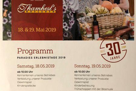 30 Jahre Thamhesl Hofladen