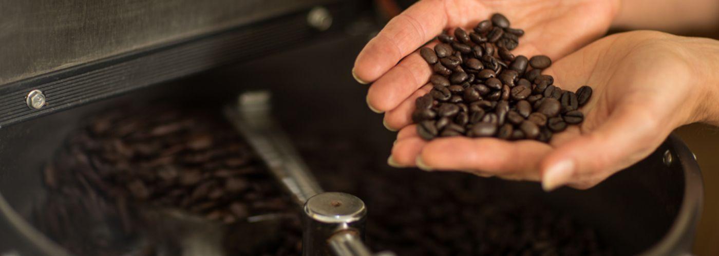 Geröstete Bohnen des Kaffeeland Hainisch