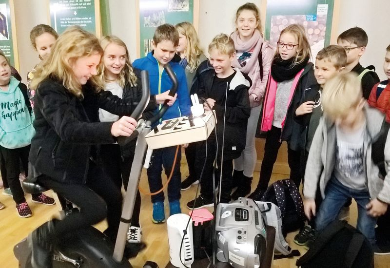 Ausflugsgruppe im Landtechnikmuseum