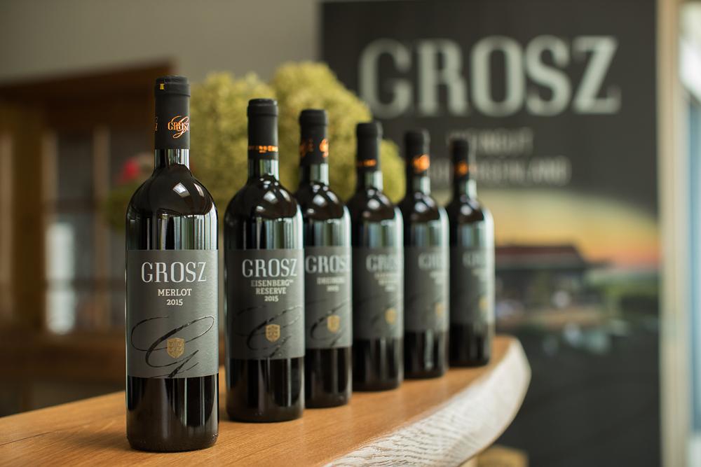 Kollektion von Rotweinen des Weingut Grosz