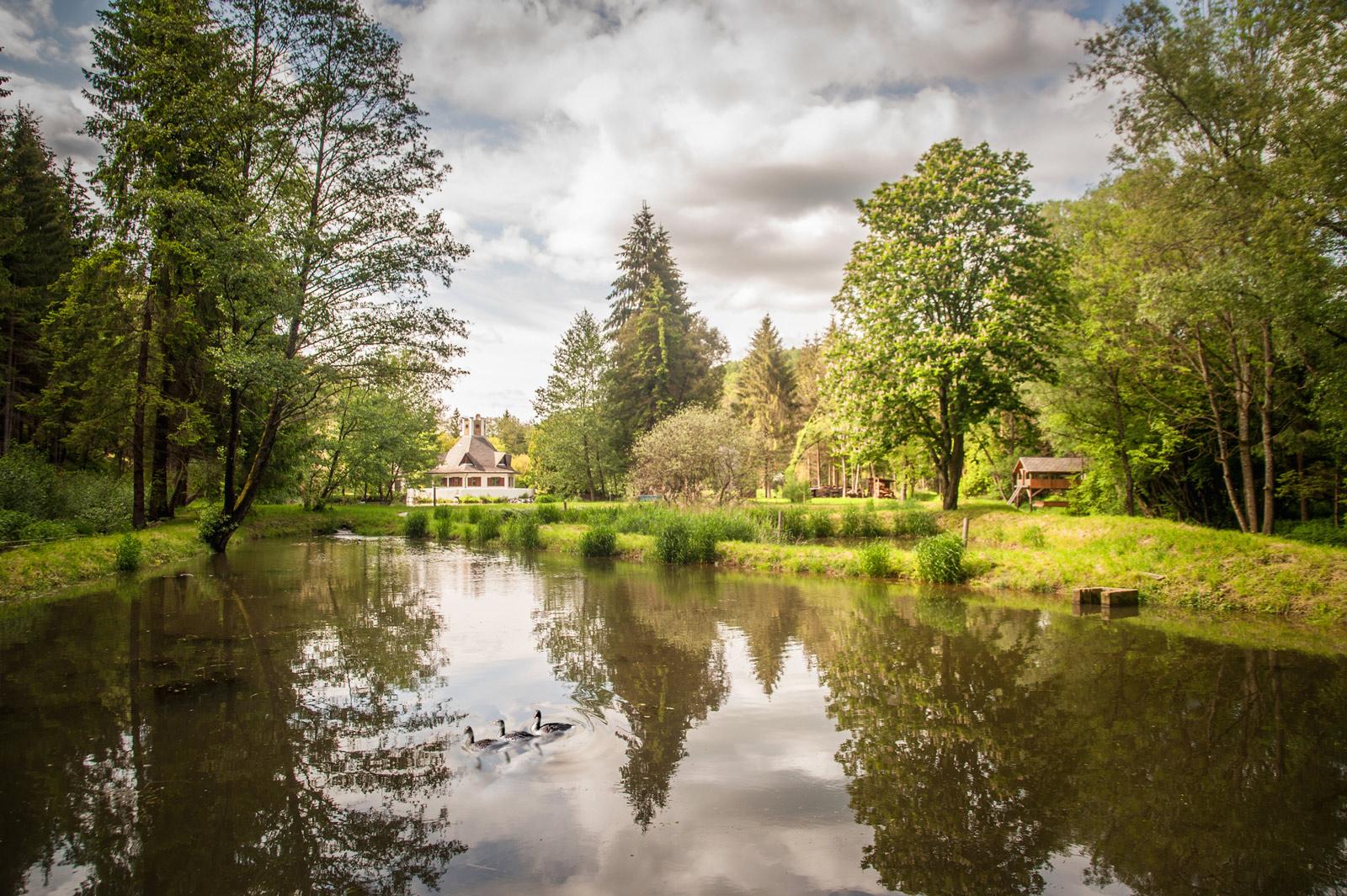 Teich für die Störzucht im Südburgenland
