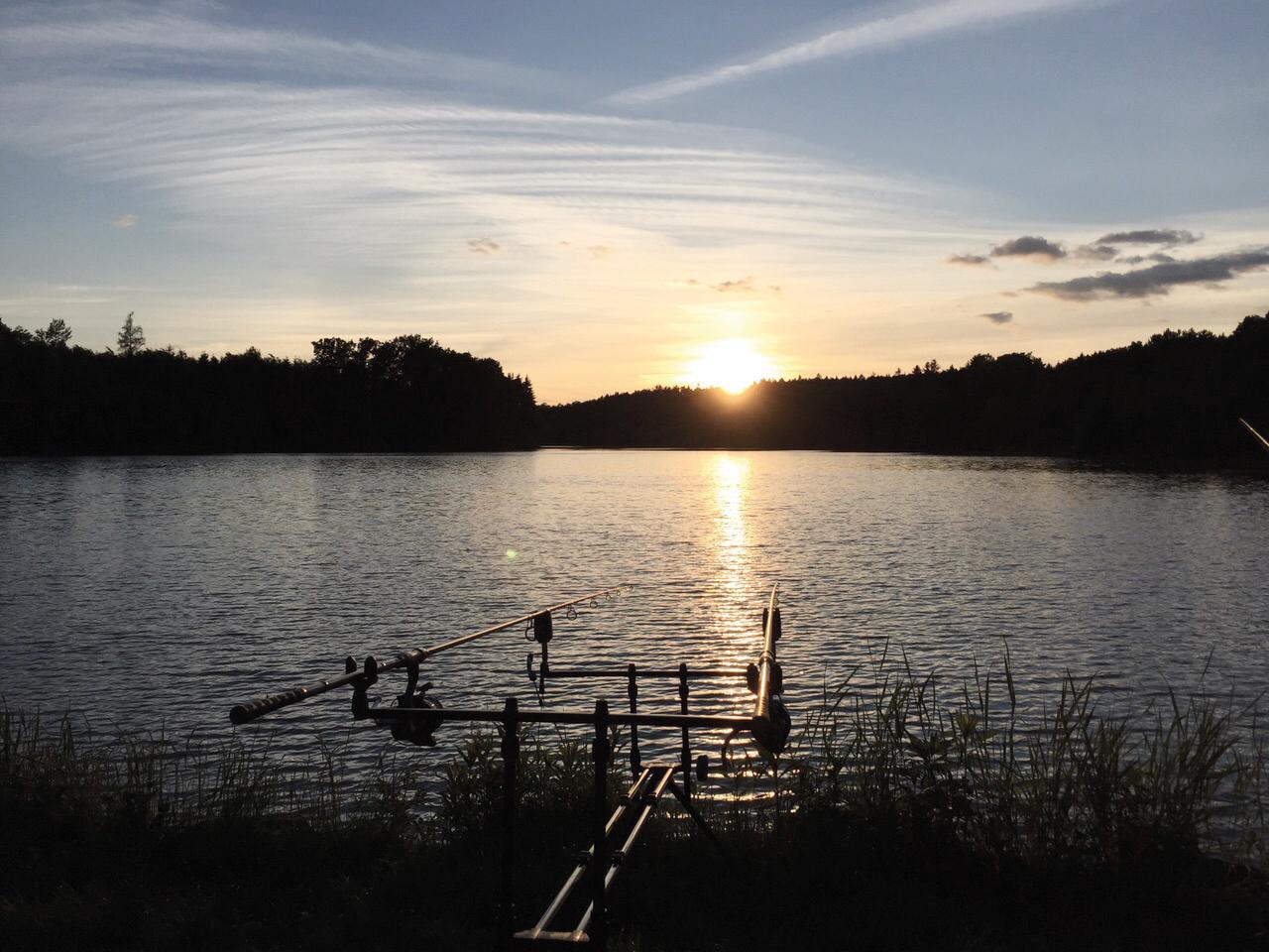 Fischteich Rotenturm bei Sonnenuntergang